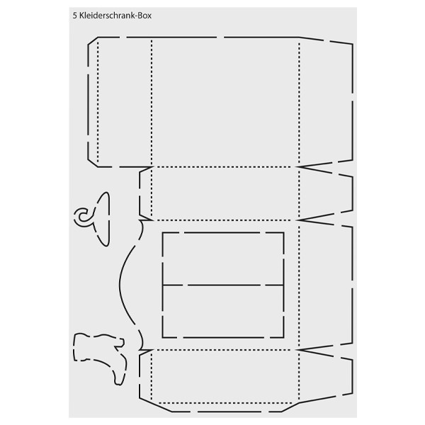 """Design-Schablone """"Kleiderschrank-Box"""", DIN A3"""