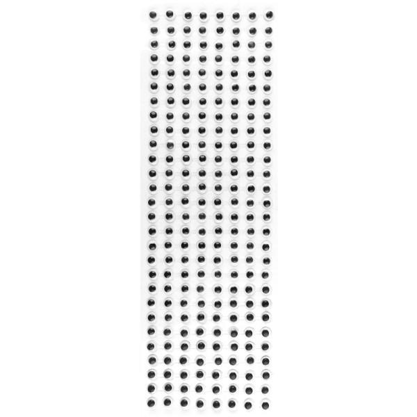 Wackelaugen, selbstklebend, 8mm Ø, schwarz, 670 Stück