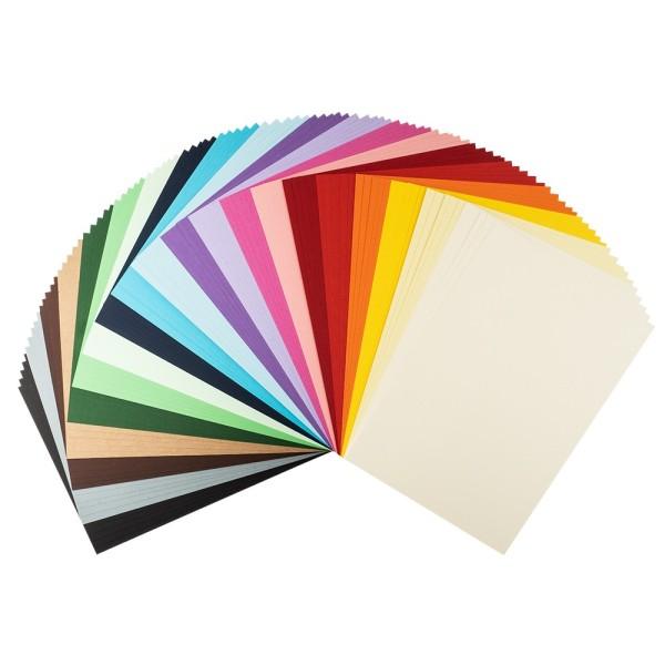Tonkarton, DIN A4, 220g/m², 20 verschiedene Farben, 100 Bogen