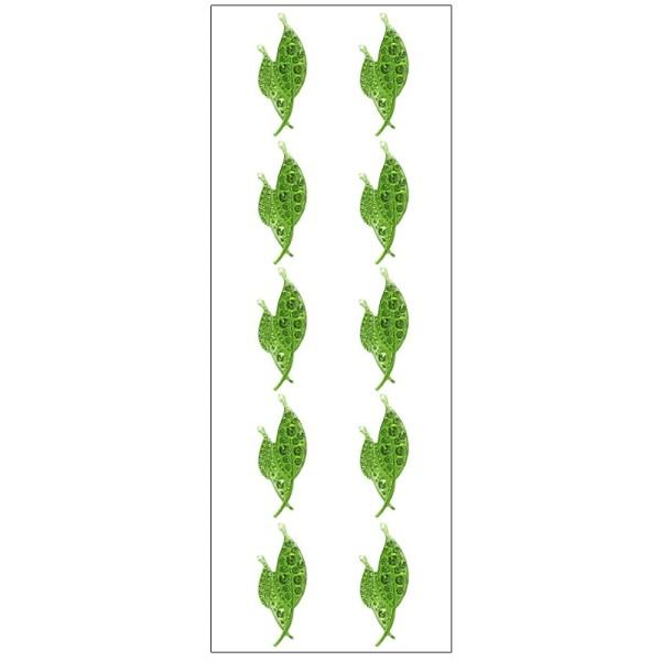Kristallkunst, Blatt 2, selbstklebend, 10cm x 30cm, grün