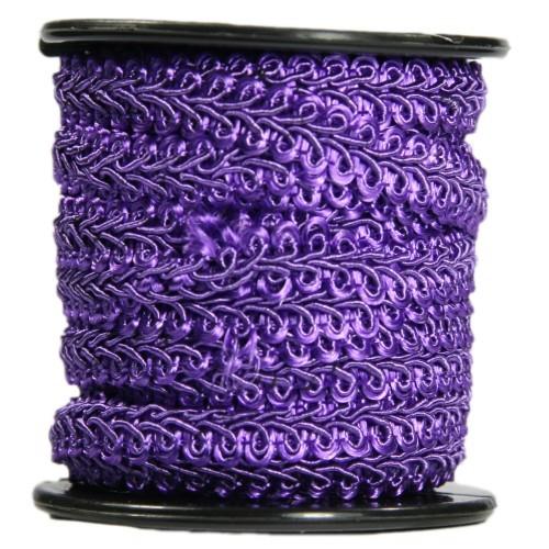 Bordürenband, Stoff, edle Schlaufen, 9mm x 10m, violett