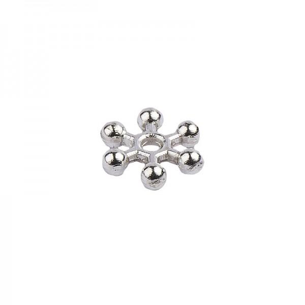 Perlenräder, Ø 8 mm, silber, 200 Stück