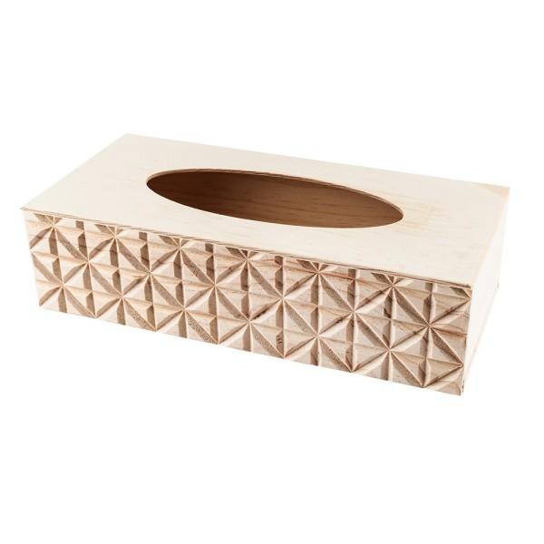 Kosmetiktuch-Box, Holz, 26cm x 12,3cm x 7cm