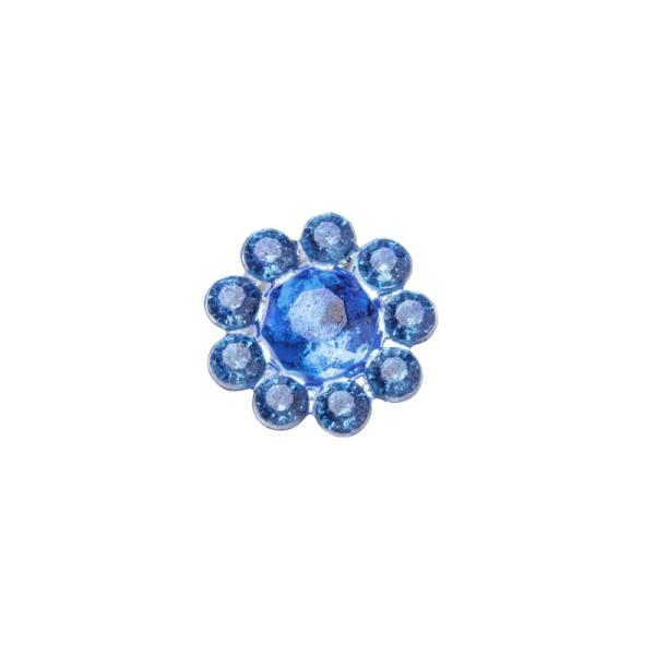 Ornament-Glitzersteine, Ø 9 mm, 50 Stück, blau