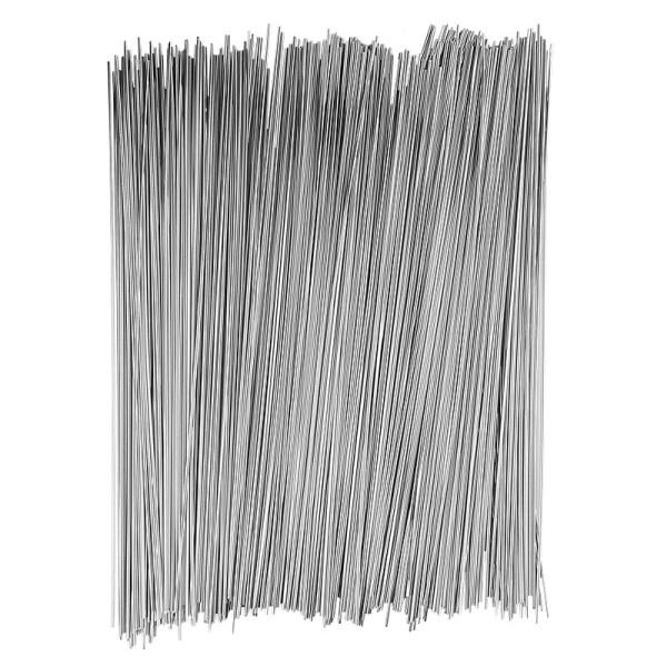 Folienhalme, Ø 2mm, 30cm lang, 40g, silber
