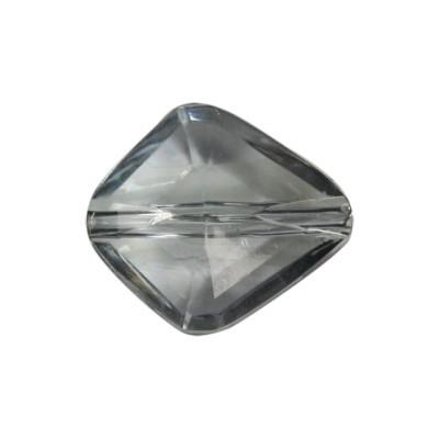 Perle Briolette-Art, 2,2 x 2 cm, 4 Stück, rauch-kristall