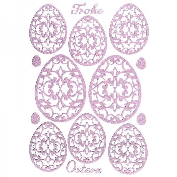 """3-D Sticker """"Deluxe Ostern"""", verschiedene Größen, selbstklebend, rosa"""