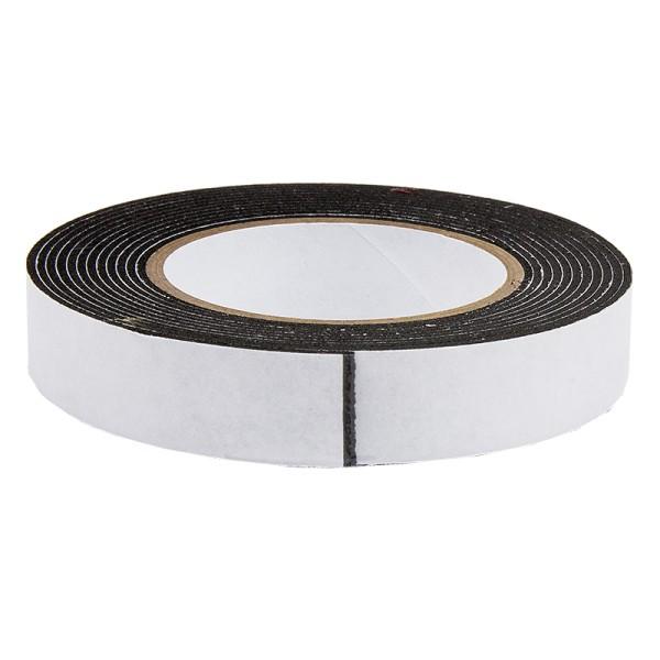 3-D Schaumklebeband, 12 mm breit, 1 mm hoch, 2 m lang, schwarz