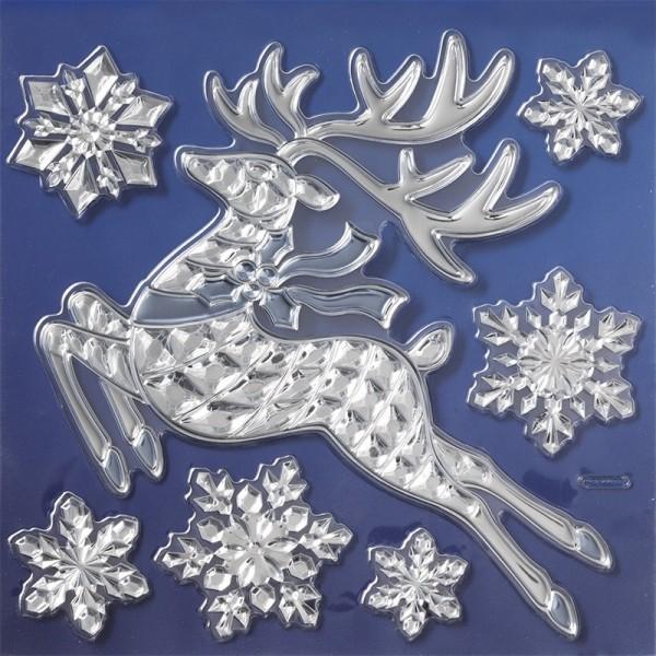 Spiegel-Relief-Sticker, Winter 1, 17,5 x 17,5 cm