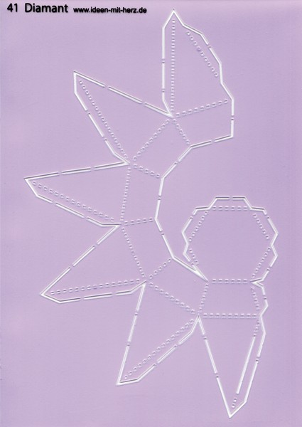 "Design-Schablone Nr. 41 ""Diamant"", DIN A4"
