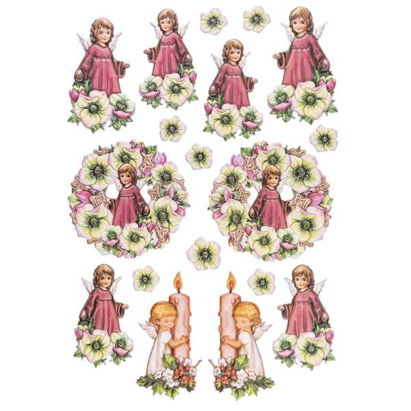 3-D Relief-Sticker, Engelchen 4, versch. Größen, selbstklebend