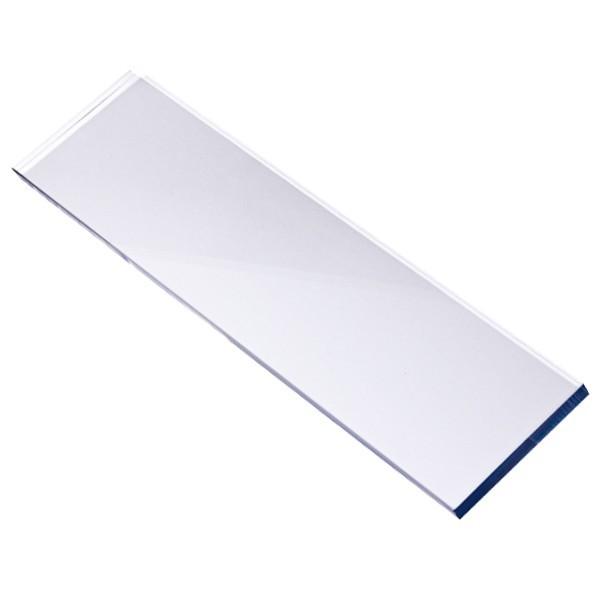 Stempel Block, 21 x 4 x 0,5 cm, transparent