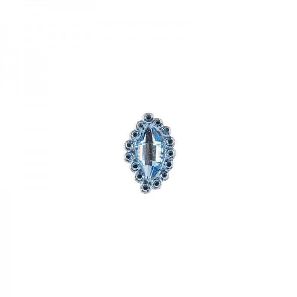 Ornament-Glitzersteine, 50 Stück, Design 7, hellblau