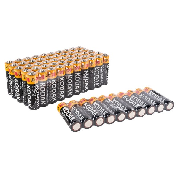 Batterien, KODAK XTRALIFE Alkaline, AA, 60 Stück