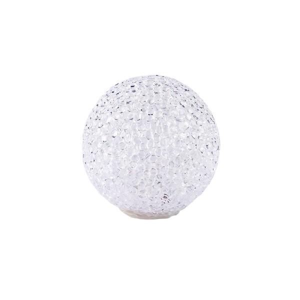 LED-Schneeball mit Timer, warmweiß, Ø 6cm