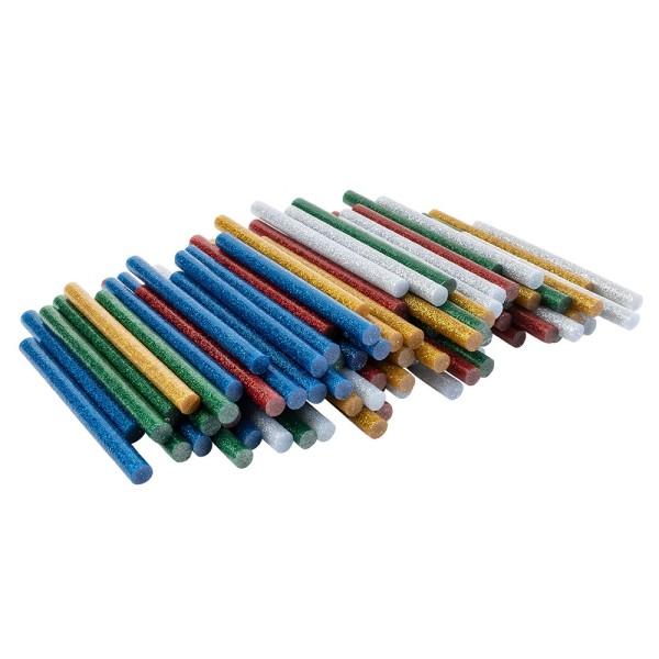Universal Heißklebepatronen, Glitzer, Ø 0,7cm, 10cm lang, 100 Stück