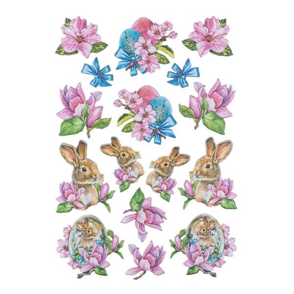 3-D Relief-Sticker, Ostergrüße 1, 21cm x 30cm, verschiedene Größen, selbstklebend