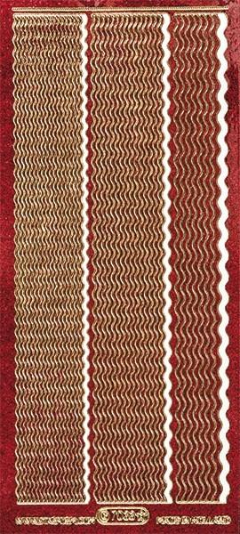 Microglitter-Sticker, Wellen-Linien, 3 Breiten, rot