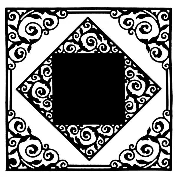 Stanzschablonen, Rahmen mit Kartenaufleger 1, 2 Stück