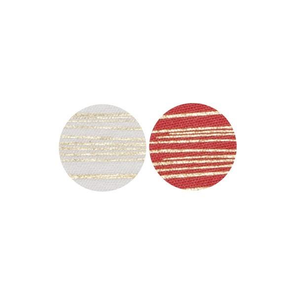 Stoffkreise für Knöpfe mit 16 mm Ø, weiß/rot, 50er Set