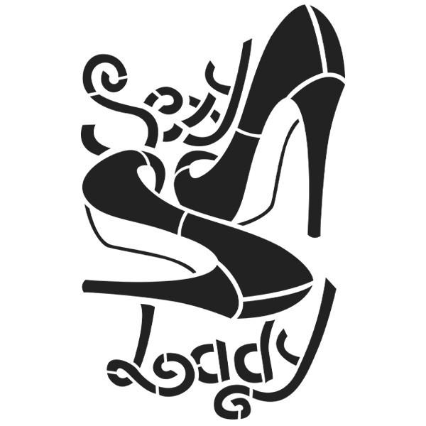 Laser-Kunststoff-Schablone, DIN A3, Sexy Lady