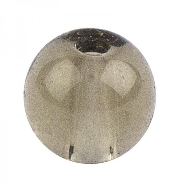 Glaskunst, Perlen, Kugel, Ø 0,8cm, klar hellgrau, 100 Stück