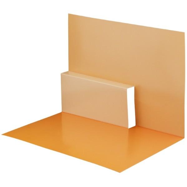 Pop-Up-Grußkarten-Einleger, gefaltet 11 x 15,5 cm, Design 15, orange