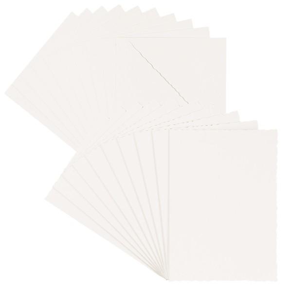 Grußkarten, Bütten-Optik, 11,5cm x 16,5cm, 300g/m², ecru, inkl. Umschläge, 10 Stück