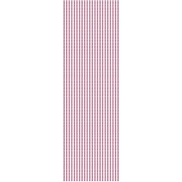 Glitzerstein-Bordüren, selbstklebend, Ø2mm, 29cm, 22 Stk., fuchsia
