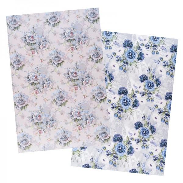 Reispapiere, Blüten 27, DIN A4, 30g/m², 2 Designs
