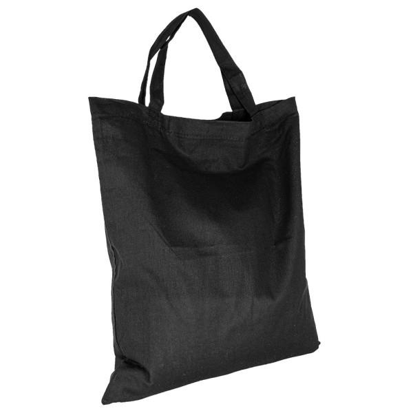 Baumwolltasche, 38cm x 42cm, kurze Henkel, schwarz