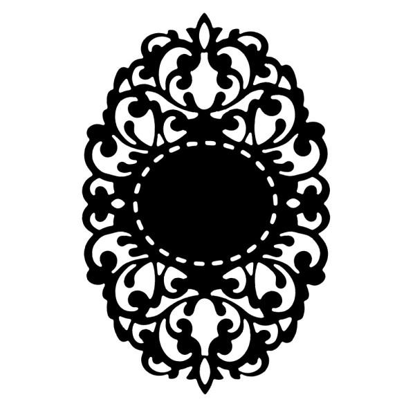 Präge-& Stanzschablone, Zierdeckchen 1, 13,9cm x 9,1cm