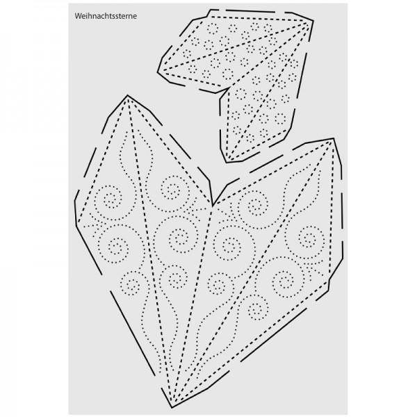 """Design-Schablone Nr. 9 """"Weihnachtssterne"""", DIN A4"""