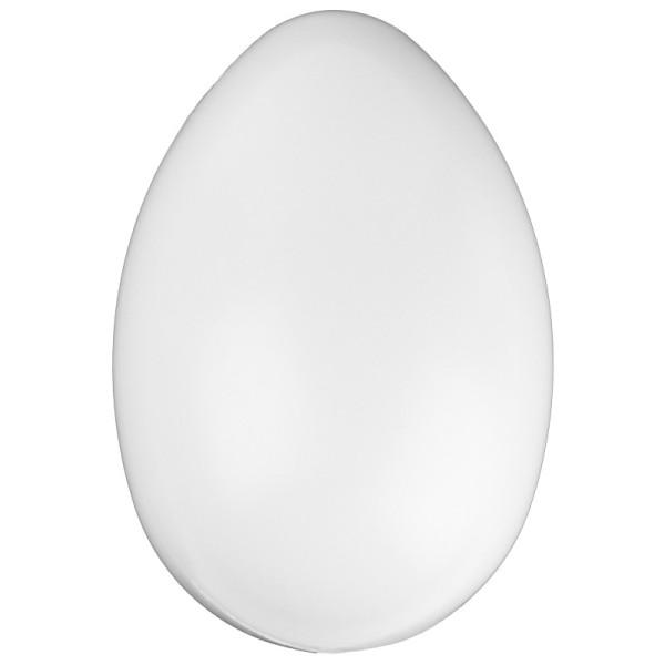 Kunststoff-Ei mit Loch, 12 cm hoch, Ø 8 cm, weiß