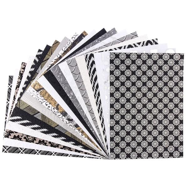 """Naturpapier Colours of India """"Delhi"""", DIN A4, silber/weiß/schwarz, 20 Blatt"""