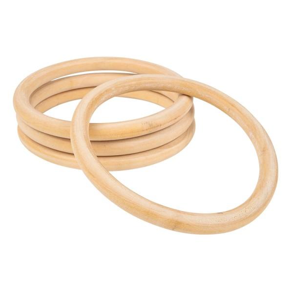 Holzringe, außen: Ø 12cm, Stärke: 10mm, naturfarben, 4 Stück