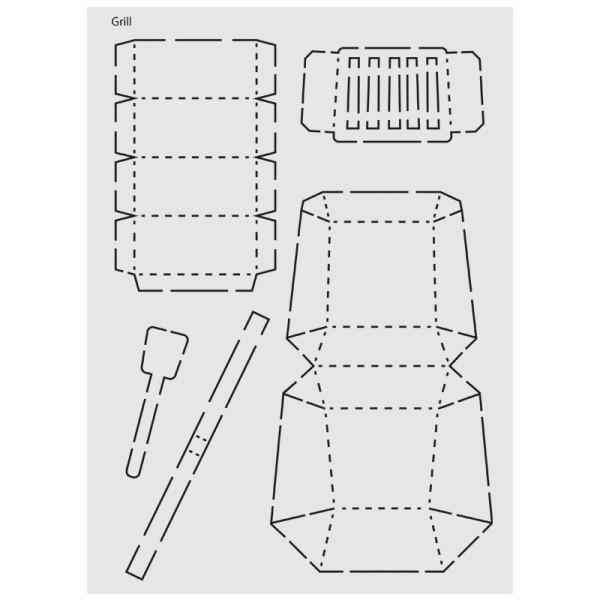 "Design-Schablone Nr. 1 ""Grill"", DIN A4"