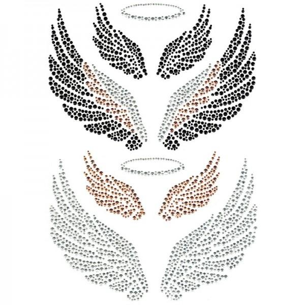 Bügelchaton-Design, DIN A4, mehrfarbig, Engelsflügel