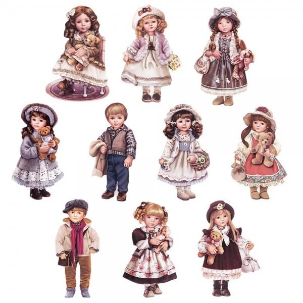 3-D Motive, Puppen, 5-10,5cm, 10 Motive