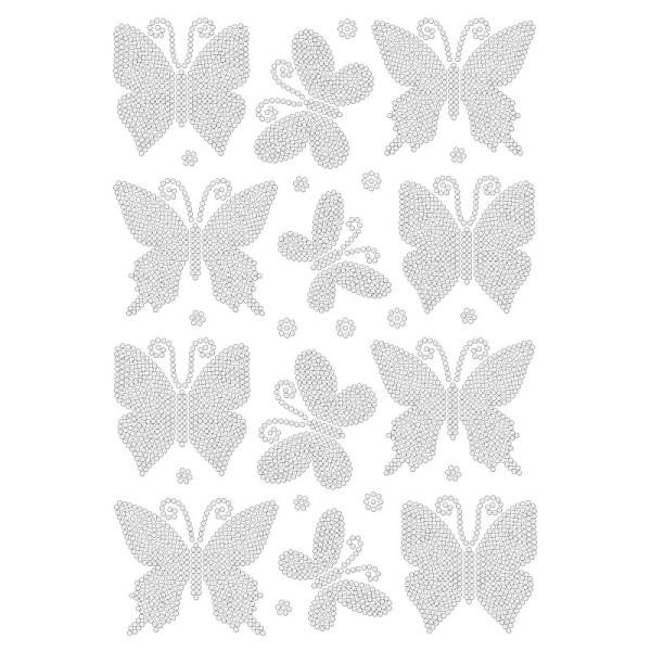 Bügelstrass-Design, DIN A4, klar, Schmetterlinge 2