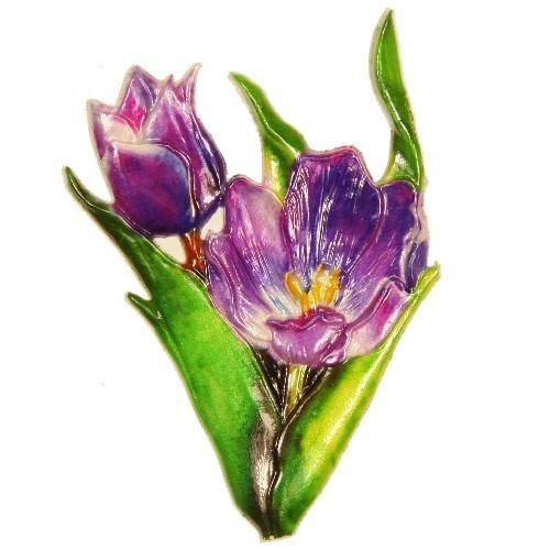 Wachsornament Tulpe, 9 x 6 cm