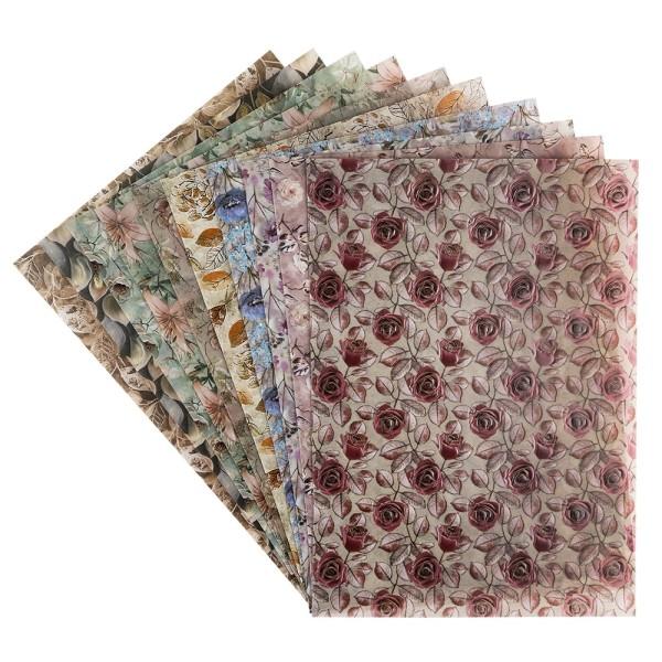 Motiv-Transparentpapiere Deluxe, Kondolenz, DIN A4, versch. Designs, 10 Bogen