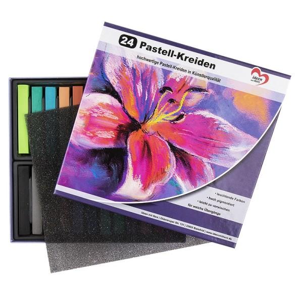 Pastell-Kreide, 24 hochwertige Kreiden
