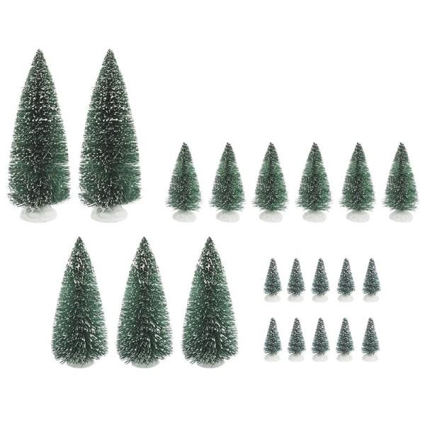 Deko-Schneetannen, verschiedene Größen, 21 Stück