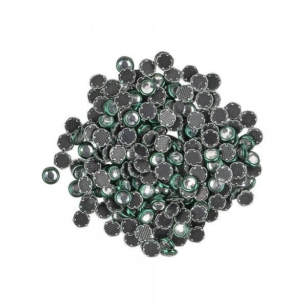 Hot-Fix Glas-Kristalle zum Aufbügeln, Ø 4mm, grün, 200 Stück