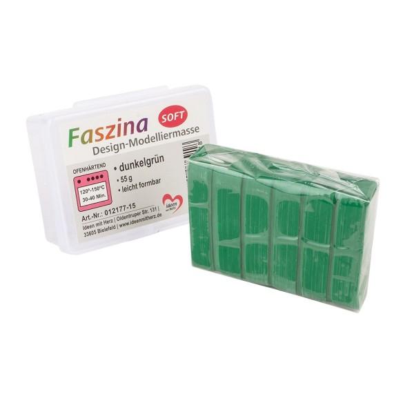 Faszina Soft, Design-Modelliermasse, dunkelgrün, 55g, leicht formbar, ofenhärtend
