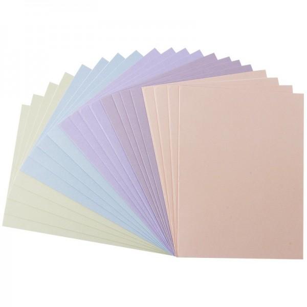 Karteneinleger, 13,5cm x 10cm, Pastelltöne, 20 Stück