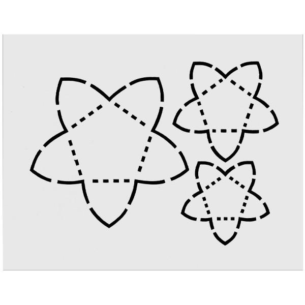 "Schablone ""Vario-Blüten"", 12cm x 15cm"