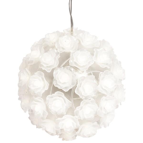 LED-Blüten-Leuchtkugel zum Zusammenstecken, mit Timer, 14cm