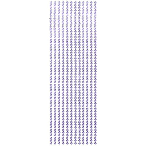 Kristall-Bordüren, selbstklebend, Ø5mm, violett